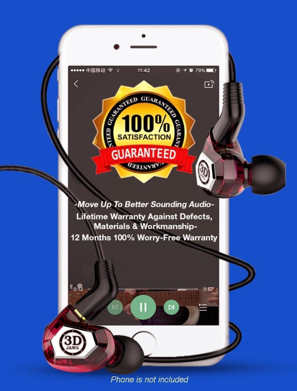 AUDIOPHILE GRADE IN Ear Monitor. Nuestro mejor auricular con nueva tecnología patentada para sonido realista 3D de gran apertura. Los auriculares tienen controladores triples. Graves profundos. A prueba de sudor. Tapones aislantes