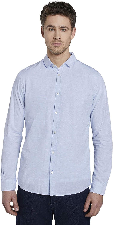 Tom Tailor Floyd Struktur Camisa para Hombre