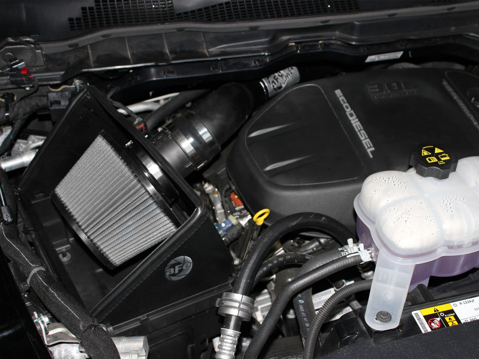 aFe Power Magnum FORCE 51-32572 RAM 1500 EcoDiesel 14-15 V6-3.0L (td) Performance Intake System (Dry, 3-Layer Filter) by aFe (Image #7)