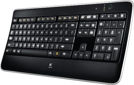 Logitech K800 Teclado Inalámbrico Retroiluminado para Windows, Disposición QWERTY Italiano, Negro