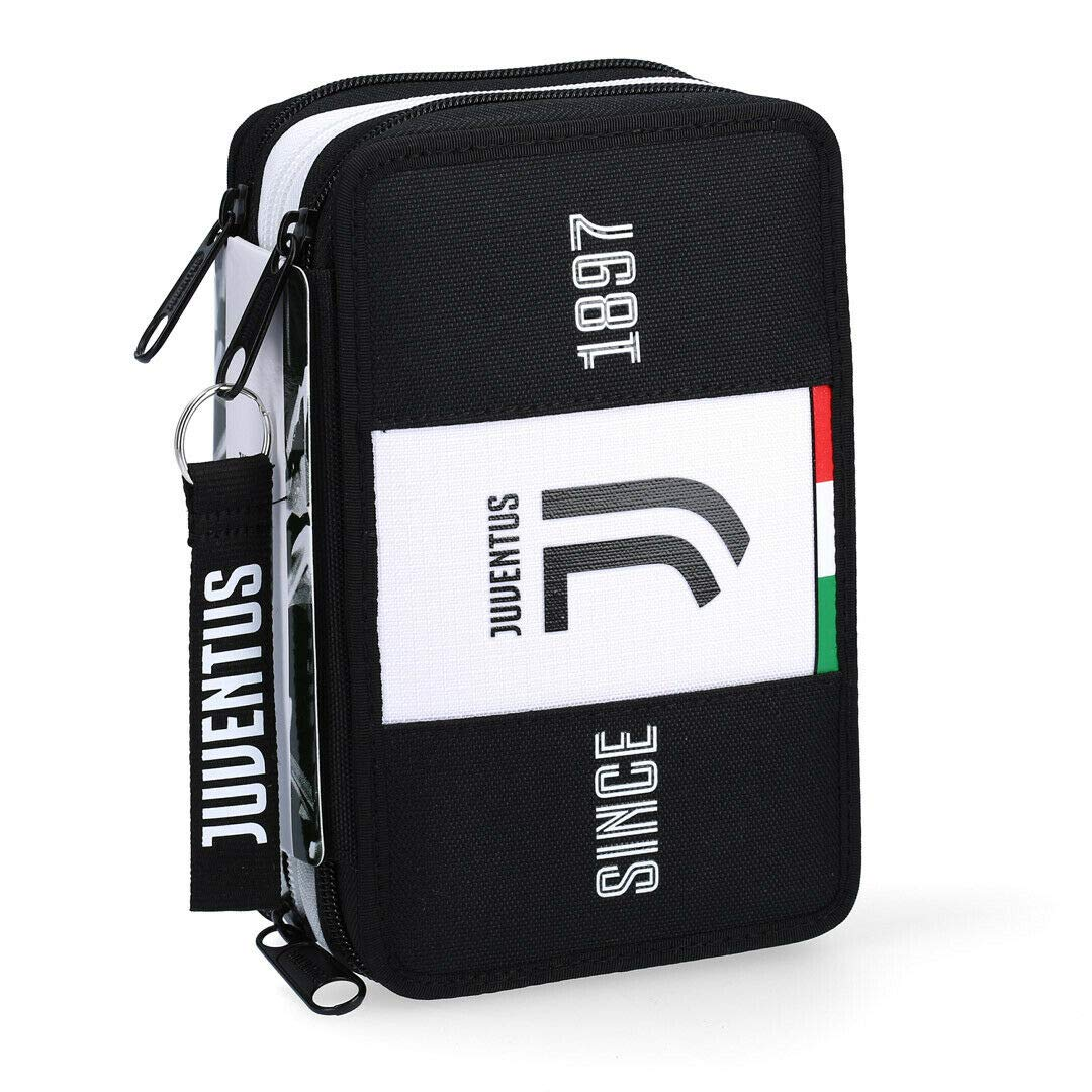 SEVEN SPA F.C Juventus 2019-20 Federm/äppchen mit 3 Rei/ßverschl/üssen offizielles Lizenzprodukt