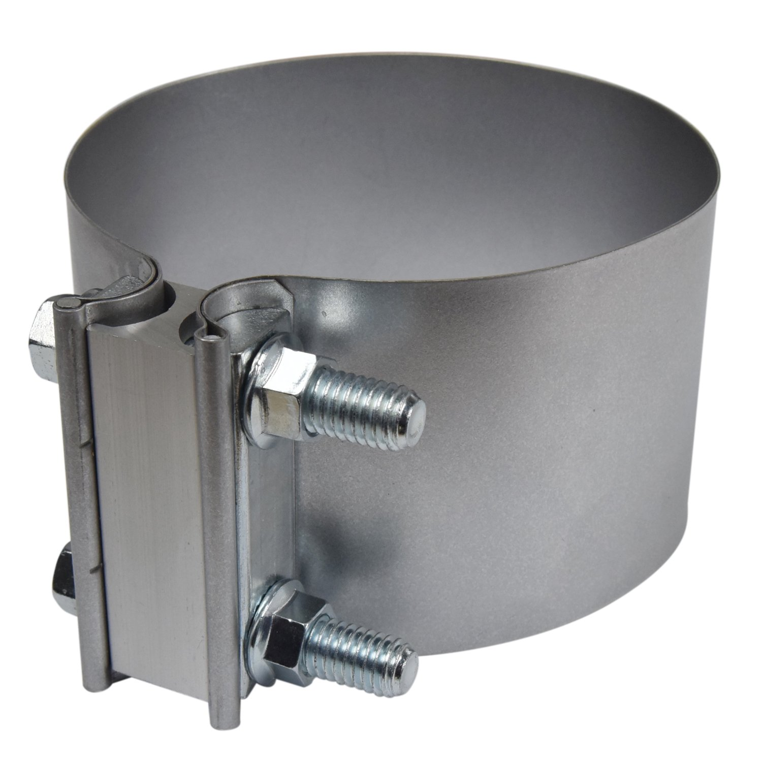 5'' Butt Joint Exhaust Band Clamp - Aluminized Steel for 5'' OD to 5'' OD Exhaust Pipe Connection