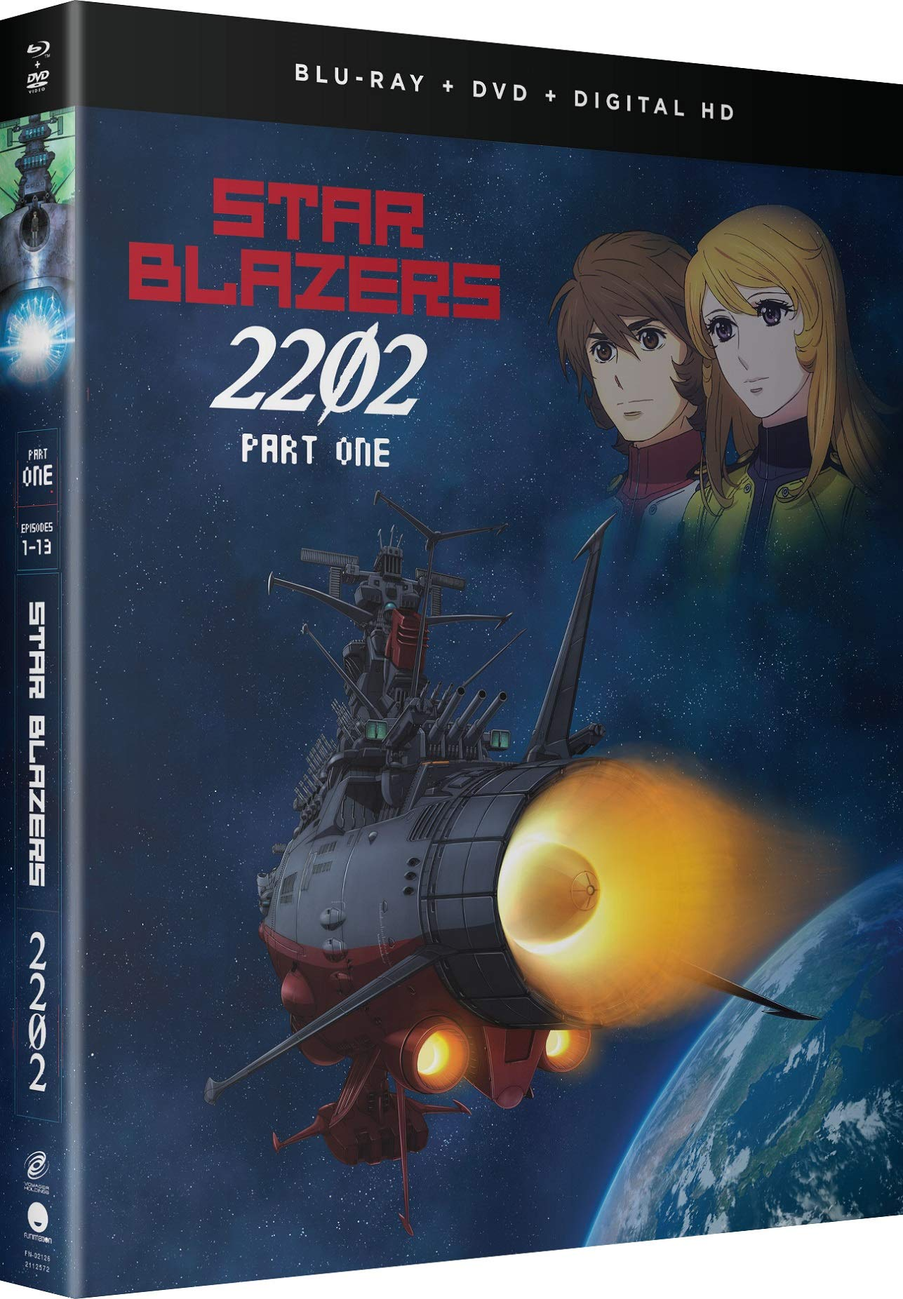 Blu-ray : Star Blazers: Space Battleship Yamato 2202 - Part One (With DVD, Boxed Set, Snap Case, Slipsleeve Packaging, Digital Copy)
