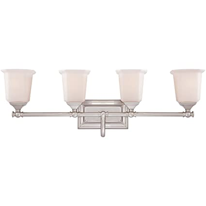 Quoizel nl8604bn nicholas 4 light bath light brushed nickel