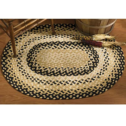brown safavieh x product garden woven braided home oval hand reversible rug