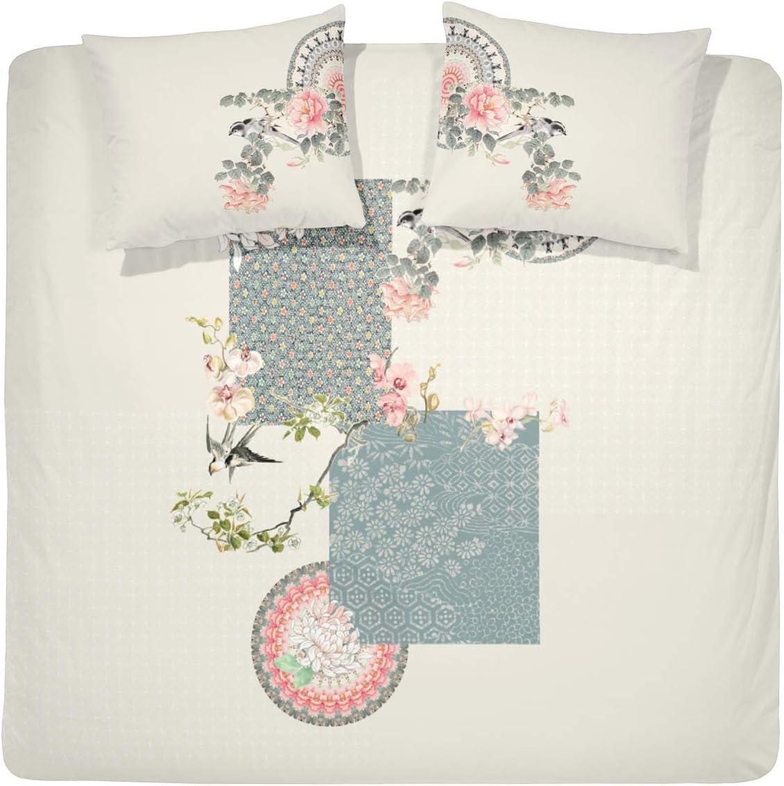 Cinderella Bettbezug Baumwolle 200 x 200//220 cm Yuzu Off-White