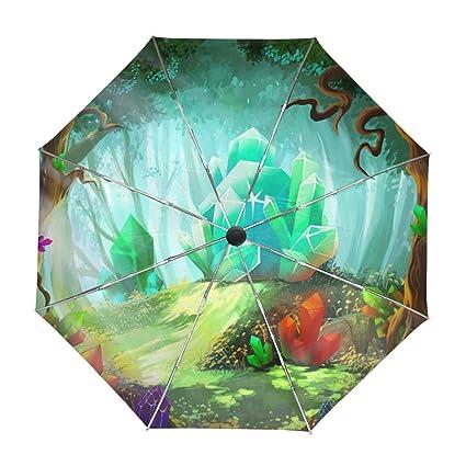 Amazon.com: ALAZA - Paraguas de viaje con diseño de dibujos ...