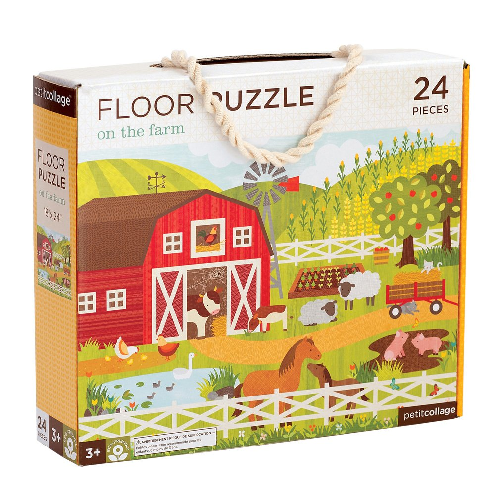Petit Collage Floor Puzzle, On the Farm, 24 pieces
