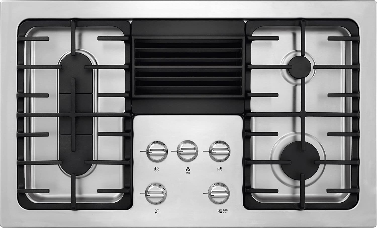 Frigidaire RC36DG60PS 36' Built In Downdraft Gas Cooktop with 4 Sealed Burners in Stainless Steel