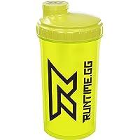 Runtime Shaker pour protéines | Gourde Sport pour la nutrition et le fitness | Contenance 700 ml | avec tamis - 100% hermétique | sans bisphénol A - avec échelle de mesure (Neon Yellow)