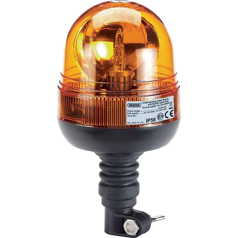 Rundumleuchte Halogen-Warnleuchte H1-Lampen mit 12//24 V R65-Zulassung