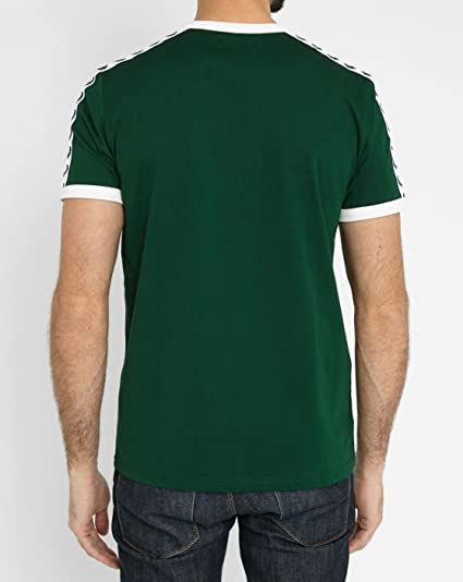 T-SHIRT FRED PERRY TAPED RINGER, COLOR VERDE verde large: Amazon ...