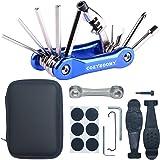 COZYROOMY Kit Reparación Herramientas Bicicleta,10 en 1 Herramienta multifunción (con Separador Cadena) y Accesorios de Repuesto, Llave de Llave de Hueso y Paquete Herramientas.
