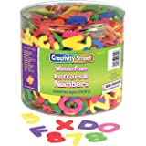 "Chenille Kraft CK-4304 Wonder Foam Letters and Numbers, 6"" Height, 6.9"" Wide, 6.9"" Length, 1/2 lb. (1500 count)"