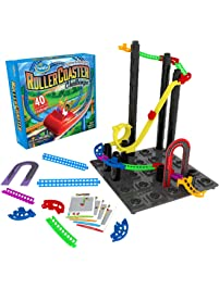 ThinkFun Roller Coaster Challenge STEM Toy and Building Game for Boys and Girls Age 6 and Up – TOTY Game of the Year...