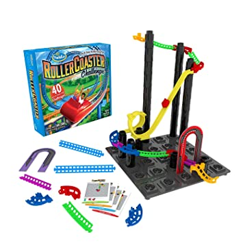 Amazon Com Thinkfun Roller Coaster Challenge Stem Toy And Building