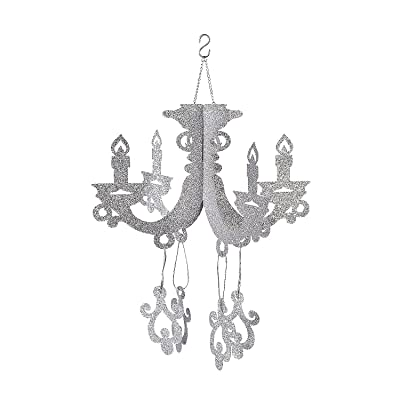 SILVER GLITTER CHANDELIER - Party Decor - 1 Piece: Toys & Games
