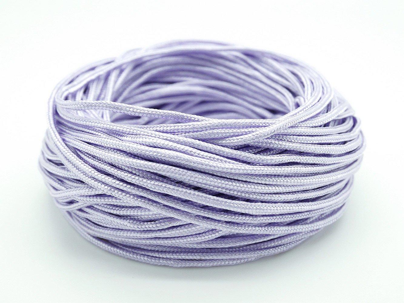 LAVENDER 2mm Chinese Knot Nylon Cord Shamballa Macrame Beading Kumihimo String - 20 Yards Craft & Beads