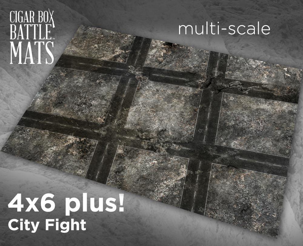 GameCraft Miniatures Battle Mat - City Fight