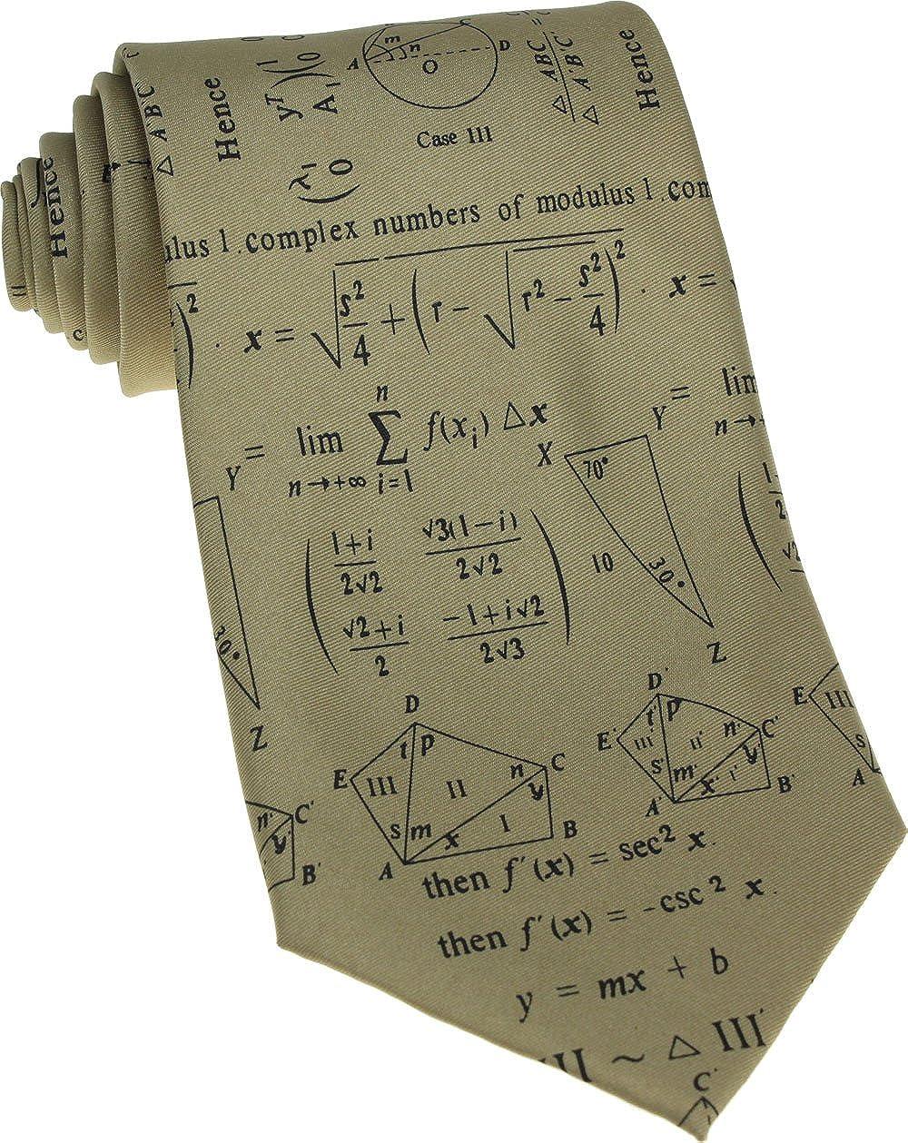 UWear - Corbata con fórmulas matemáticas y números complejos ...