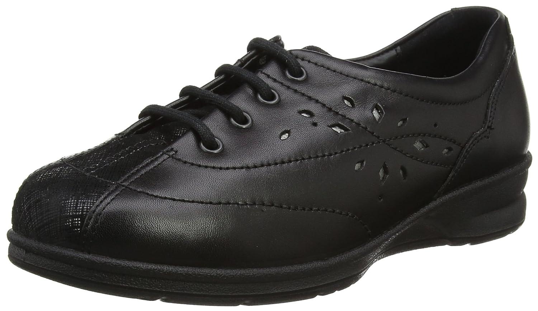 Padders Plus Karen 2, Zapatos de Cordones Derby para Mujer 41.5 EU|Negro (Black 38)