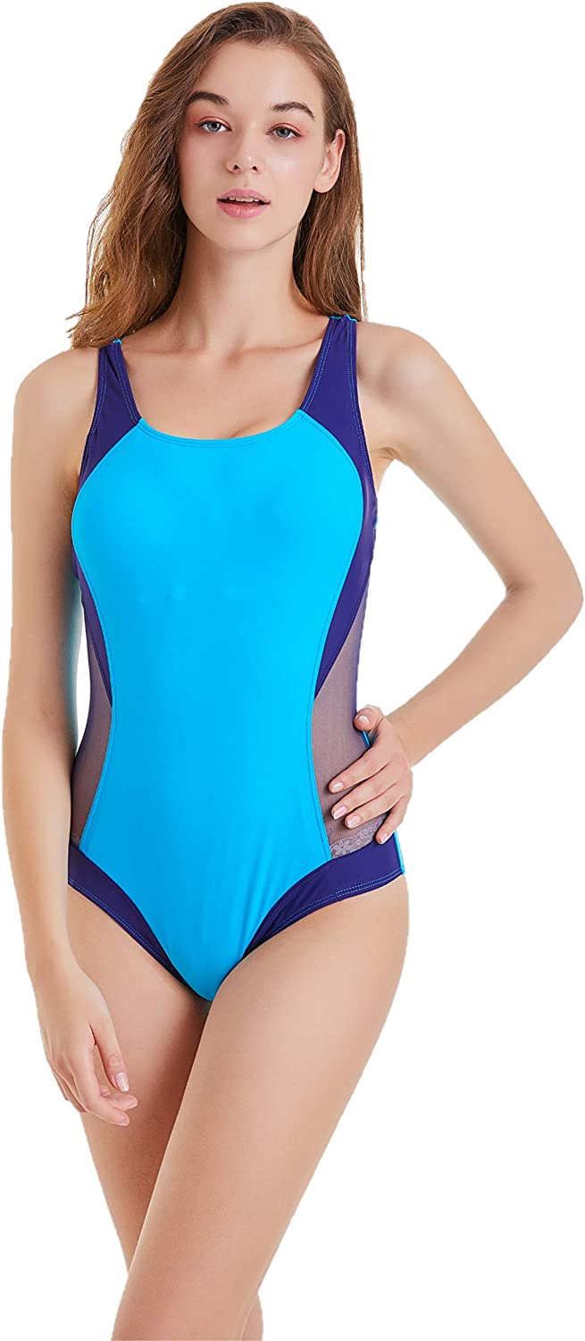 BROGEND Women's Athletic One-Piece Swimsuits Racing Training Sports Swimsuits