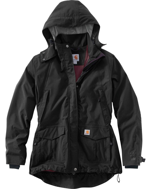 Carhartt Women's Shoreline Jacket (Regular and Plus Sizes), Black, Large by Carhartt
