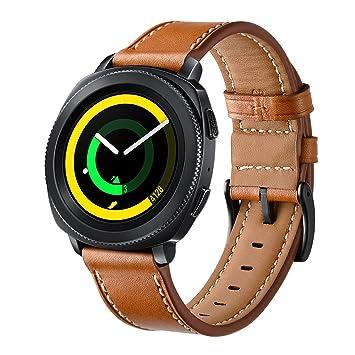 Bracelet de montre Loveblue de rechange en cuir véritable 20 mm pour  Samsung SM,R600