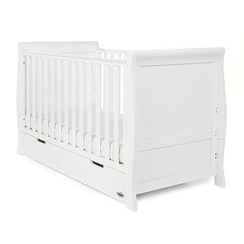 Obaby Stamford Schlitten Kinderbett Mit Schublade (weiß)