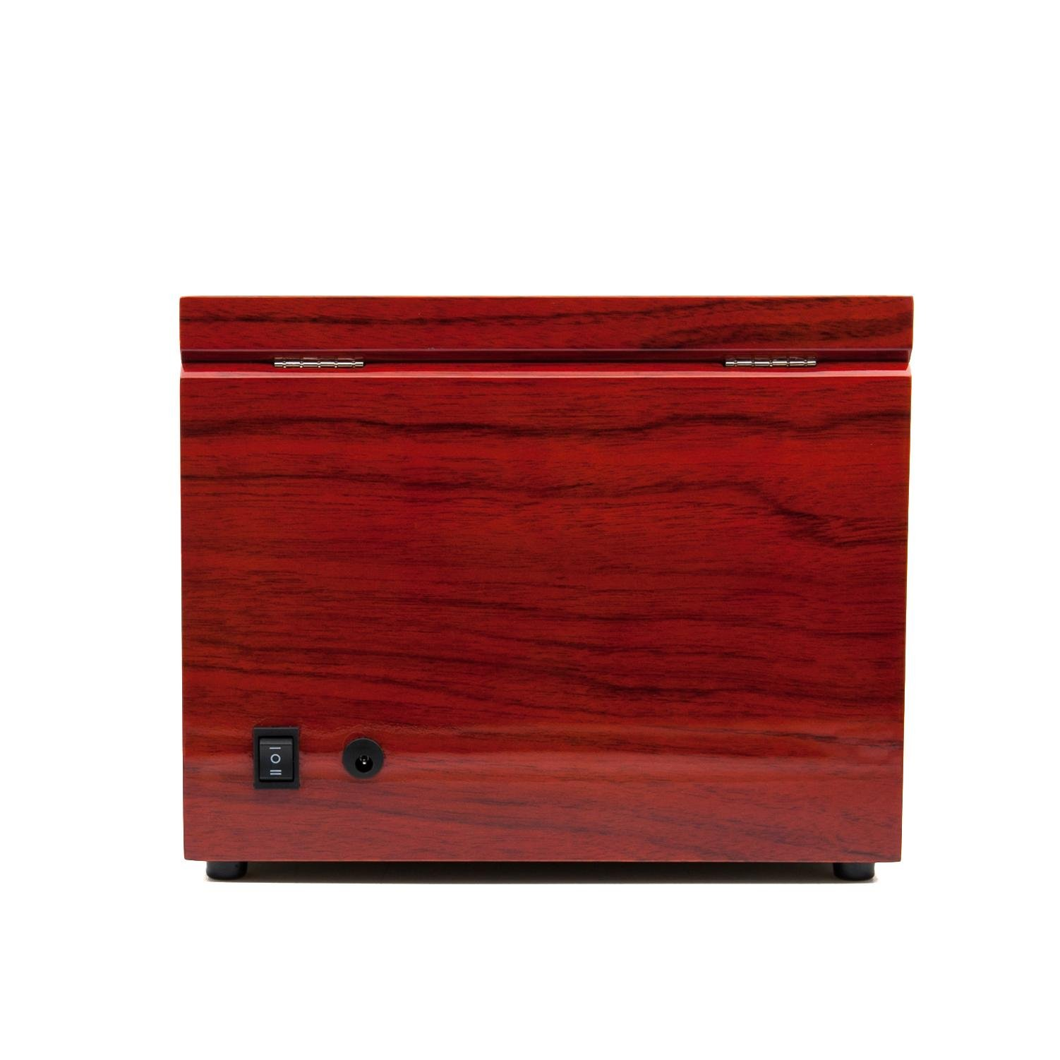 KAIHE-BOX Classic Watch Winders for 2 Watches for automatic Watch Winder Rotator Case Cover Storage(2 color,ww-02132) , Red by KAIHE-BOX (Image #6)