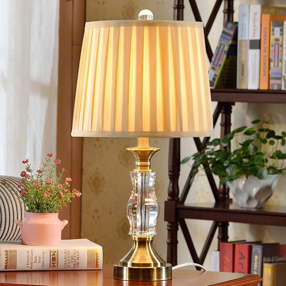 lámparas de mesa de cristal europeos/lámpara de cabecera del ...