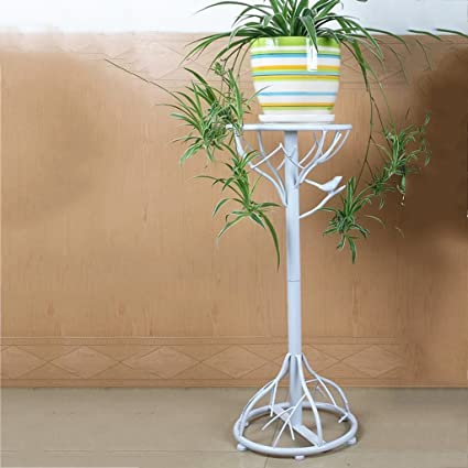 Estante de flores de madera ---- Negro / Canela / Blanco Hierro De Pie Creatividad Soporte De Flores Una ...