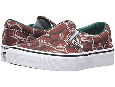 cf6bfd7bd42bc6 Vans Boys Classic Slip-On (Sports) Football Green Skateboarding Shoes  VN0004J2K5D (