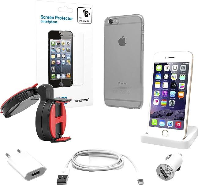 Unotec Pack Accesorios iPhone 6 / 6S: Amazon.es: Electrónica