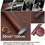 "TOTAL HOME : 12""x40"" Car Interior DIY Generic Wood Grain Textured Vinyl Wrap Sticker Decal Sheet Film for Car Home Decoration Sticker Decals Armrest Vinyl"
