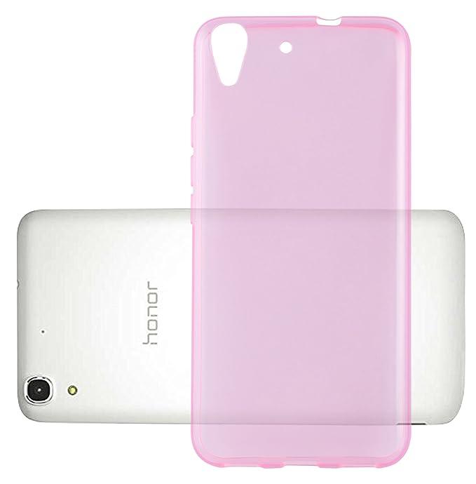 Cadorabo Funda para Huawei Y6 2015 / Honor 4A en Transparente Rosa – Cubierta Proteccíon de Silicona TPU Delgada e Flexible con Antichoque – Gel Case ...