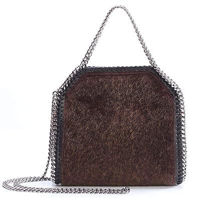 7b635da4c5bd bag 2018 autumn winter new water chain chain shoulder bag plush bag mini  ladies handbag
