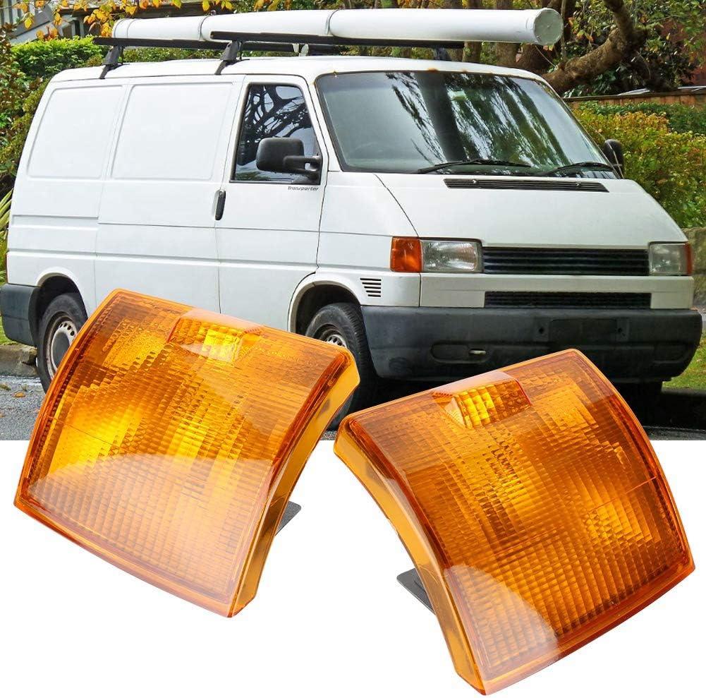 Qiilu Coppia copri luci indicatori di direzione laterali 1 paio copri luci indicatori di direzione per auto indicatori di direzione anteriori per Transporter T4 BJ 1995-2003