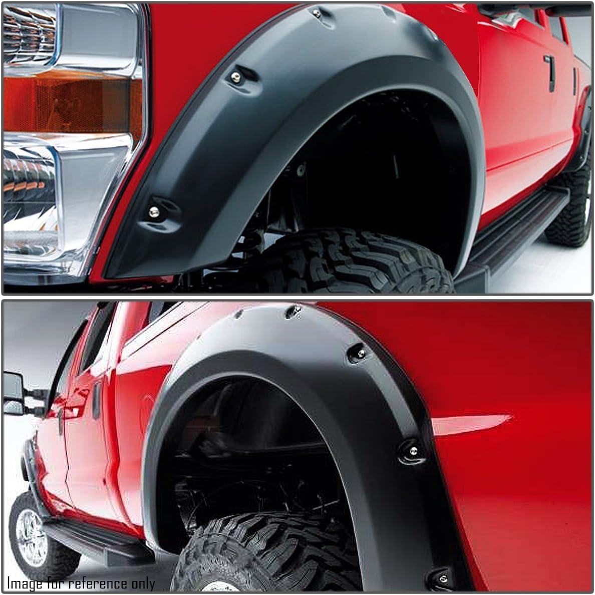 for 07-13 Tundra DNA MOTORING WF-TD07-MBK Bump Textured Pocket-Rivet Fender Wheel Flare Style Side