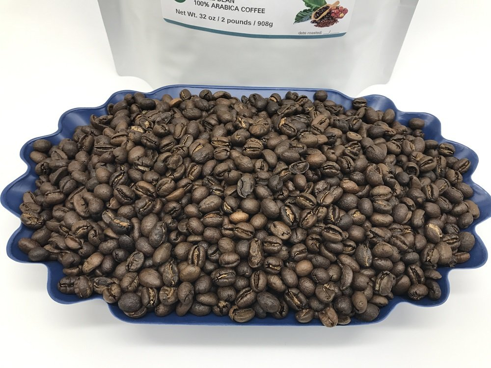 2-LBS SUPER FRESH ROASTED – TANZANIA PEABERRY COFFEE (in a FREE BURLAP BAG) – Order Today/ROASTED TODAY – Beautiful Medium/Dark, Whole Bean – SUPER SWEET – a Perfectly Developed Roast – BEST TASTES by Smokin Beans (Image #5)