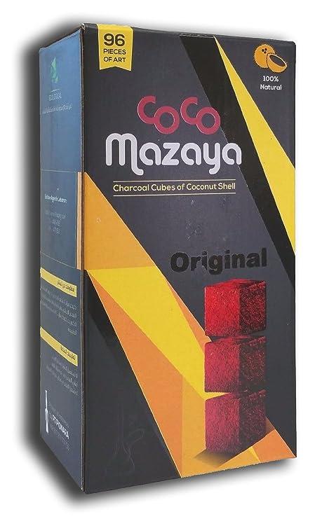 Amazon.com: Coco mazaya Hookah Shisha Natural charcoals 96 ...