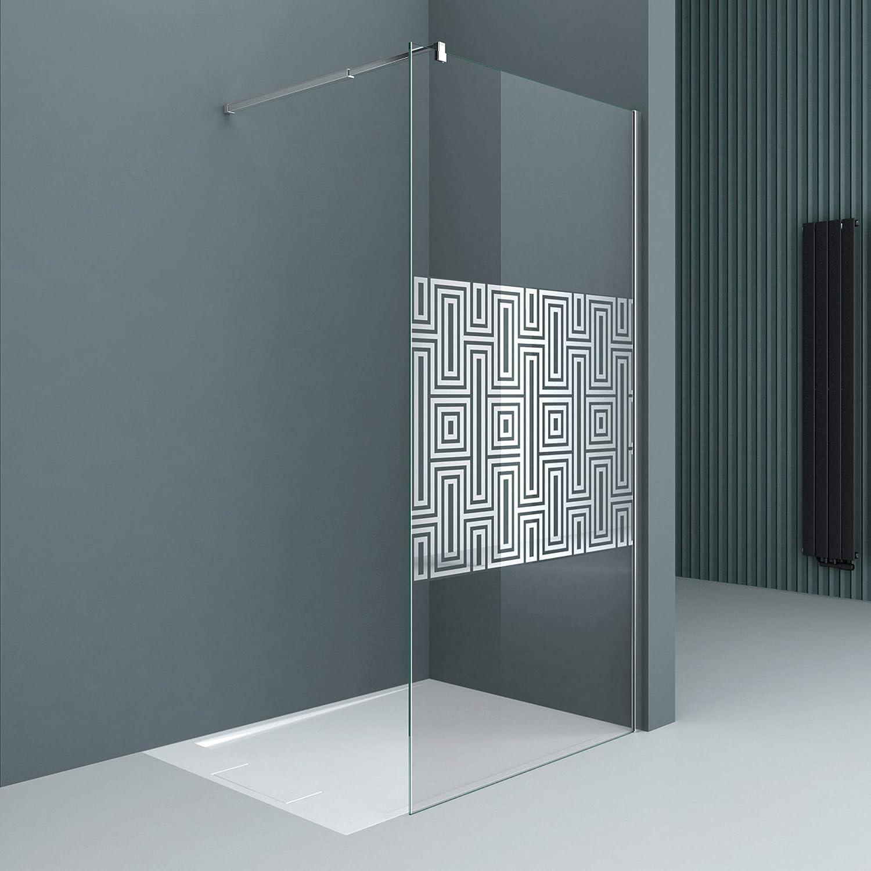 Sogood Lujosa Mampara Panel de ducha de vidrio transparente diseño ...