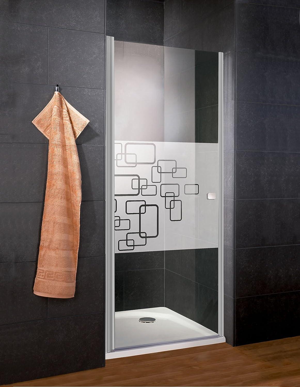 profil/é blanc paroi de douche extensible 80-90 cm Schulte porte de douche pivotante en niche X-tra