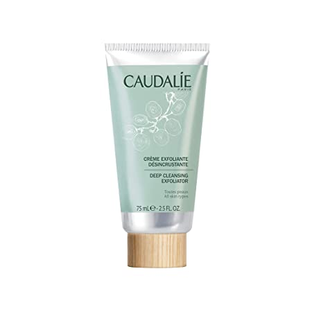 Caudalie Deep Cleansing Exfoliator. Purify and Cleanse Face and Improve Texture with Natural Ingredients Infused with Grapefruit, Mint and Orange 2.5 Ounce 75 Milliliters