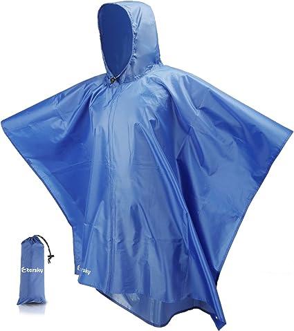 Multi-Functional Raincoat Backpack Rain Cover Poncho Sunshade Tarp Mat Outdoor