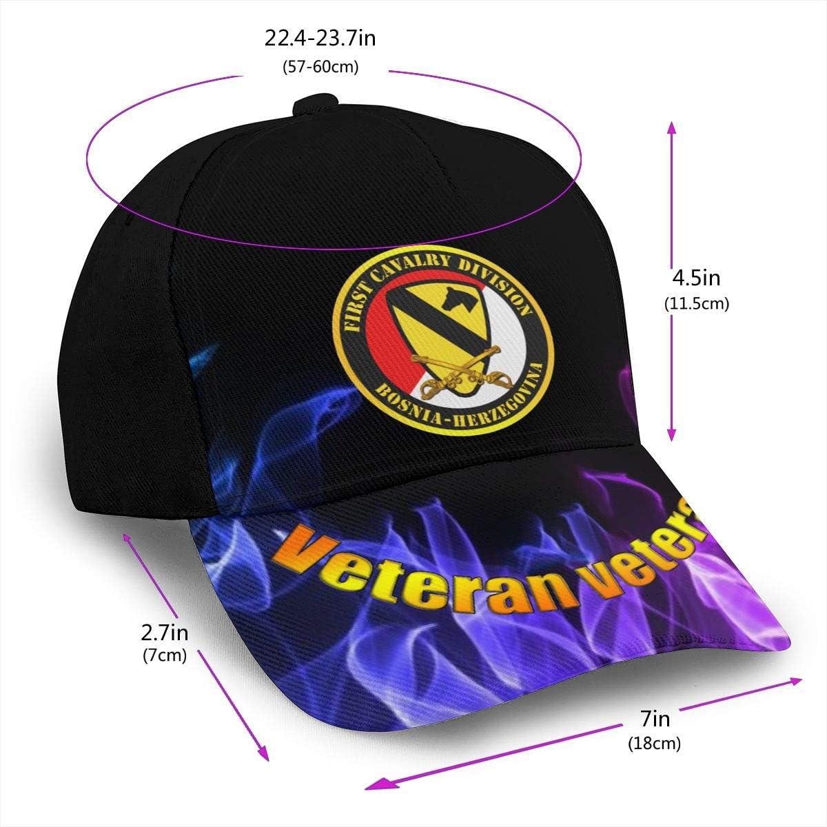 1st Cavalry Div Bosnia-Herzegovina Classic Snapback Caps Printing Duck Tongue Baseball Hats Men Women Hats Red White