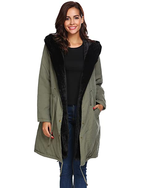 Zeagoo Womens Hooded Warm Coats Parkas with Fax Fur Winter Jacket at Amazon Womens Coats Shop