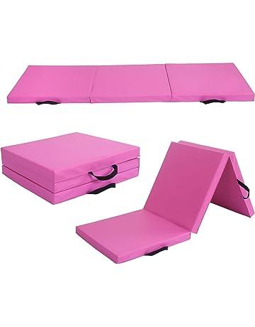 ZENOVA Gymnastics Tumbling Mat 4x8x2 //4x10x2 Folding Gym Practice Panel Thick Exercise Mats with Handle Gymnastic Floor Mats
