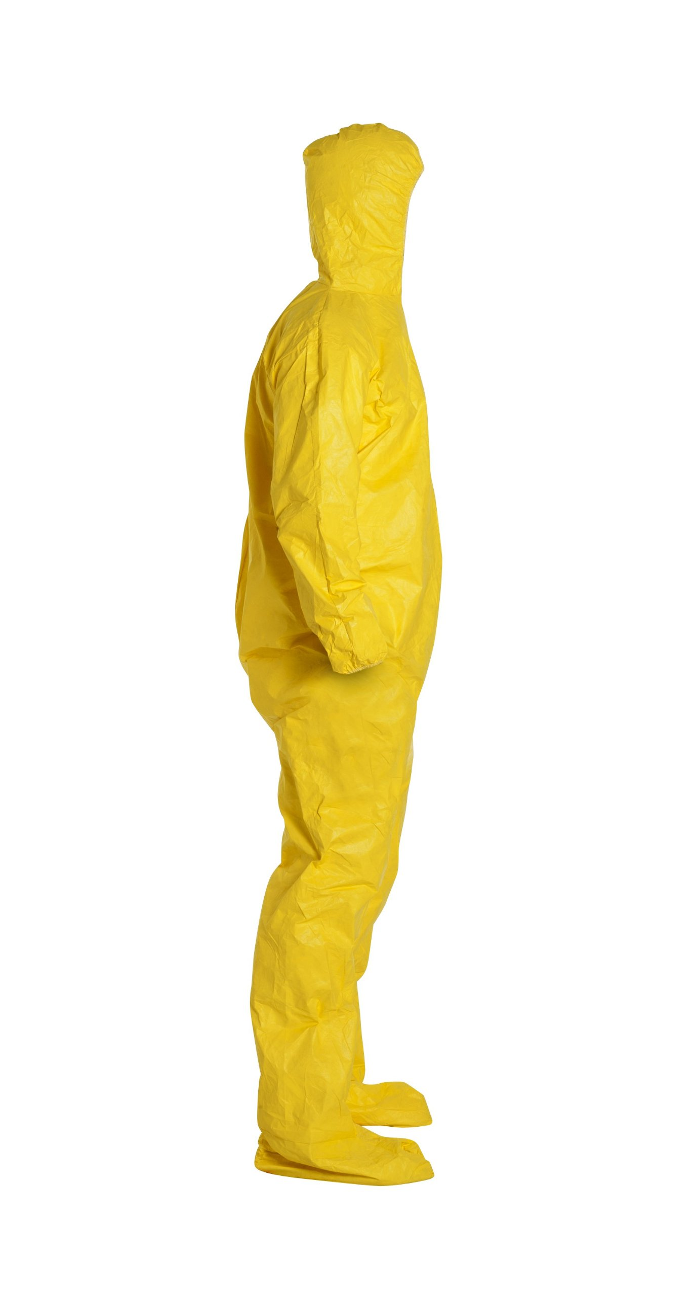 DuPont Tychem 2000 QC122S Chemical Resistant Coverall with Hood and Socks, Disposable, Elastic Cuff, Yellow, 2XL (Pack of 12) by DuPont (Image #3)