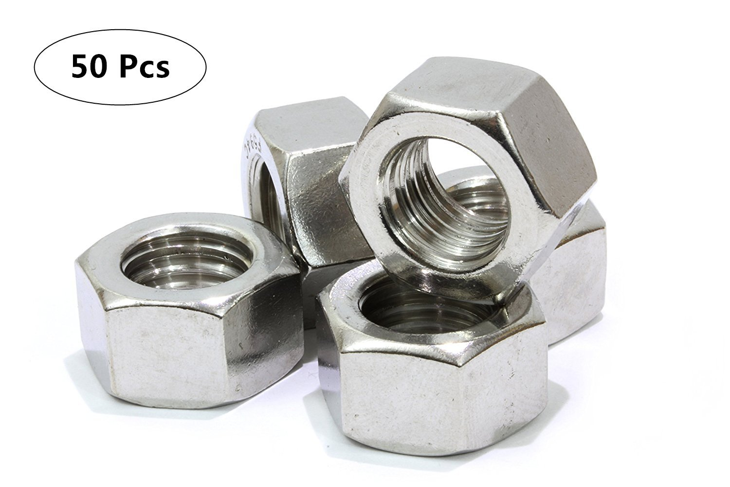 Stainless Hex Nut Pack of 50 M12